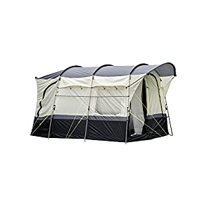 OLPRO Outdoor Leisure Products Loopo 3.4m x 3.3m 2 Berth Steel Pole Drive Away Campervan Awning Black & Grey