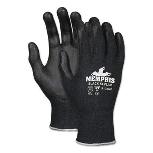 Memphis 9178NFL Kevlar Gloves 9178NF Large Black Kevlar/Nitrile Foam