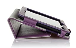 ProCase Kindle Fire HDX 7 Case with bonus stylus pen - Flip Stand Leather Folio Cover for Kindle Fire HDX 7 inch Tablet (will only fit New Kindle Fire HDX 7 2013 released) (Purple)