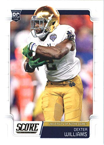 2019 Score Football #342 Dexter Williams Notre Dame Fighting Irish Rookie Official NFL Trading Card From Panini Packers