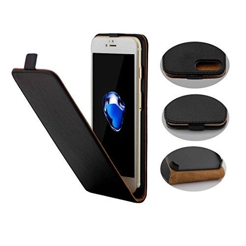 iPhone Case Cover Housse en cuir pour iPhone 7 Plus Khaki