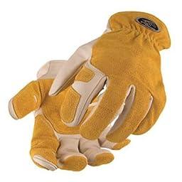 BLACK STALLION Split Cowhide Reinforced Kevlar Stitched Driver\'s Gloves 97SW XL