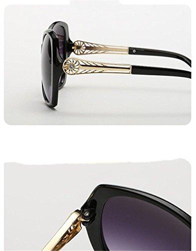 grand longues lunettes CHshop modèles Les féminins Vin Rouge soleil de visage élégantes XqUXAHtw