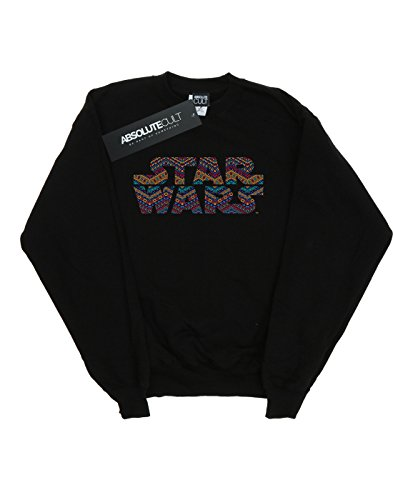 Noir Wars Sweat Fille Aztec Colour shirt Logo Star 4PqH804