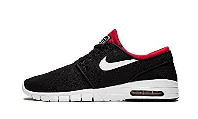 Nike SB Stefan Janoski Max Black/White/University Red Skate Shoes-Men 11.5, Women 13