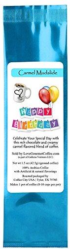 Happy Birthday Carmel Mudslide Flavored Gourmet Coffee ()