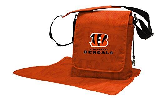 Wild Sports NFL Cincinnati Bengals Messenger Diaper Bag, 13.25 x 12.25 x 5.75-Inch, Orange by Wild Sports