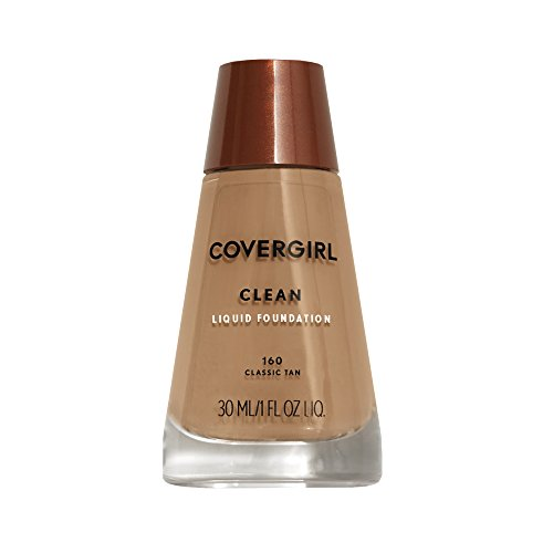COVERGIRL Clean Makeup Foundation Classic Tan 160, 1 oz (packaging may vary) Cover Girl Tan Liquid Foundation