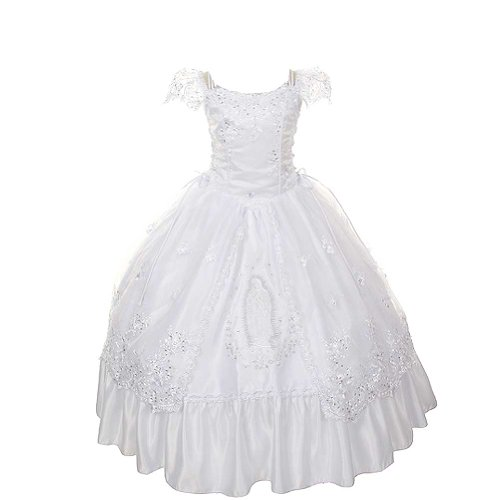 Rain Kids Girls 12 White Virgin Mary Organza First Communion Dress for $<!--$147.95-->
