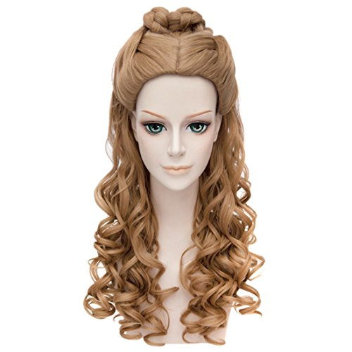 Vogue Women Lady Cinderella Costume Curly Wavy Cosplay Long Wig Synthetic Hair