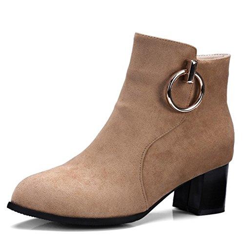 Women KemeKiss Boots KemeKiss Zipper KemeKiss apricot Women Boots Women apricot Zipper YIqwtaAxY