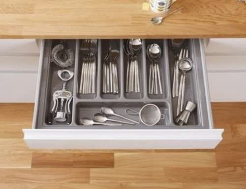 HIGH Quality Plastic Cutlery Tray for Kitchen Drawers Various Sizes/Formations (Dimensions: 420mm x 415mm)
