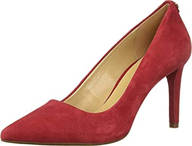 Michael Kors Womens Dorothy Flex Pump Leather Pointed Toe, Scarlet, Size 6.0