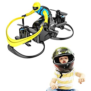 Mini Drone, Tomzon U48A RC Stunt Doll with Paraglider Flight, One Key Demo, Altitude Hold RC Quadcopter, Nano Drone for Kids and Adults (Blue)