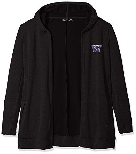 Under Armour NCAA Washington Huskies Womens NCAA Women's Fleece Wrap, Large, Black