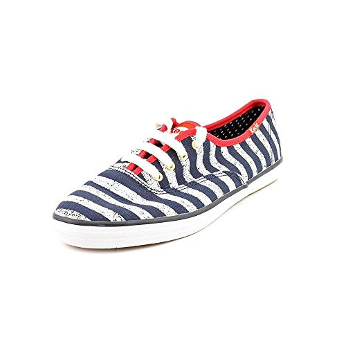 Keds Women's Champion Washed Sneaker Shoes Navy Stripes Size 8M