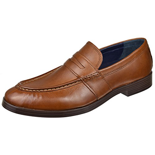 Cole Haan Men's Jefferson Grand Penny II Loafer, British tan, 9 Medium US