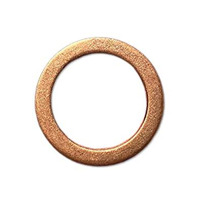 18mm Copper Spark Plug Gaskets (Box of 50): Home Improvement