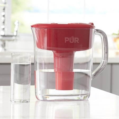 PUR 11 Cup Ultimate Pitcher Filtration System with Lead Reduction PPT111R, Red