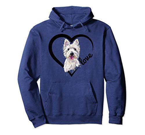 (I Love My Westie Hoodie, Westie Shirt, West Highland Terrier)