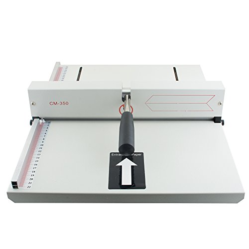Genmine Creasing Machine Manual Paper Card Creaser Scorer 350mm, A4 Card Covers, High Gloss Covers for Paper Card Book Scoring SHIPPING FROM USA by Genmine