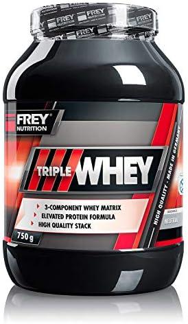 FREY Nutrition TRIPLE WHEY 750g Neutral - ohne Süßungsmittel, ohne Aromen, ohne Farbstoffe - Hoher BCAA-Anteil - 100% ige Löslichkeit, instantisiert, kein Verklumpen
