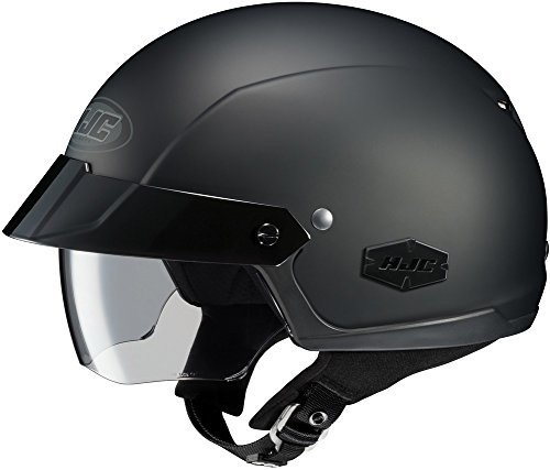 Helmet Sm Matte (HJC IS-Cruiser - Half-Shell Open-Face Street Helmet - Matte Black - SM)