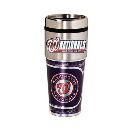 Washington Nationals 16oz. Stainless Steel Travel Tumbler/Mug - Washington Nationals Tumbler