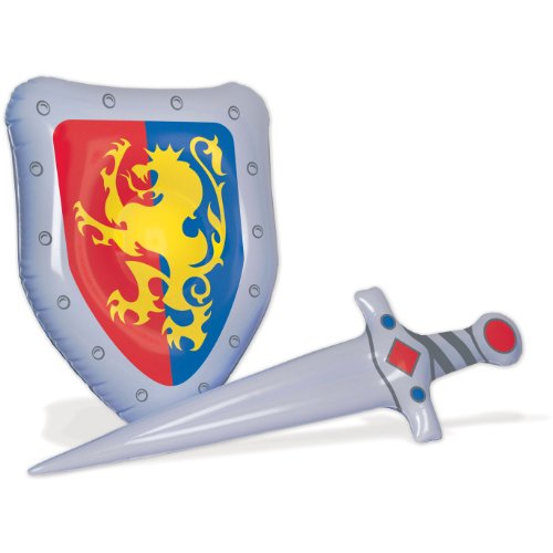 Inflatable Sword & Shield Set Party Accessory (1 count) -