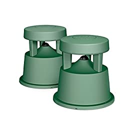 Bose Free Space 51 Outdoor In-Ground Speakers (Green) - 31763 1 Downward firing 4-1/4 full range driver.Dimensions-Each speaker:36 cm H x 32 cm W x 32 cm D Innovative radial design disperse sound in a 360 degree pattern and centrally located port enhances low-frequency performance to deliver the depth and richness of music outdoors Rugged, flexible design withstands temperatures from -40 to +150 degrees Fahrenheit, and passed the rigorous salt fog test 66% longer than required by the Marine Industry Standard