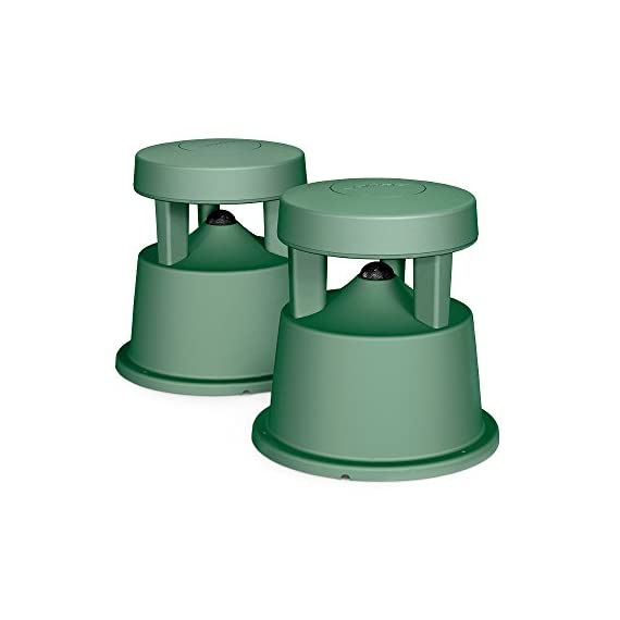 Bose Free Space 51 Outdoor In-Ground Speakers (Green) 1 Downward firing 4-1/4 full range driver.Dimensions-Each speaker:36 cm H x 32 cm W x 32 cm D Innovative radial design disperse sound in a 360 degree pattern and centrally located port enhances low-frequency performance to deliver the depth and richness of music outdoors Rugged, flexible design withstands temperatures from -40 to +150 degrees Fahrenheit, and passed the rigorous salt fog test 66% longer than required by the Marine Industry Standard