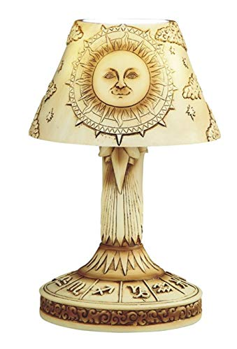 George S. Chen Imports Polyresin Mosaic Sun LED Table Lamp 9 1/4