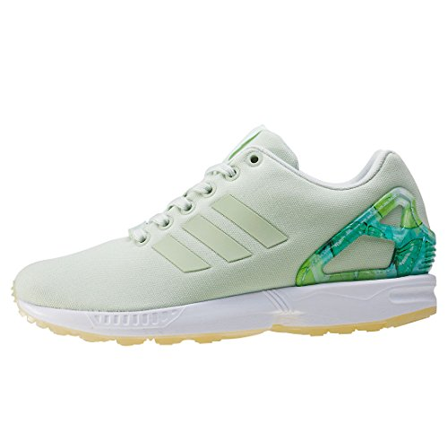 adidas Zx Flux, Zapatillas para Mujer Verde (Linen Green/linen Green/footwear White)