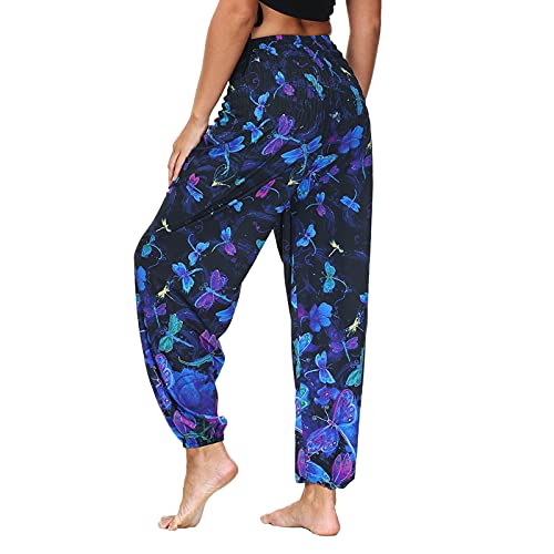 SPRAOI Yoga Pants with Pockets, Yoga Trousers for Women, Casual Loose Baggy Bloomers Harem Pants