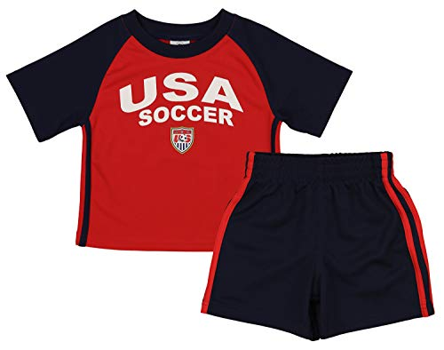 (Outerstuff MLS Toddlers USA Team Performance Shirt & Shorts Set, 4T)