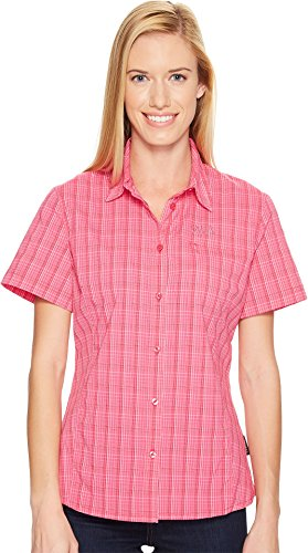 Tropic Vent - Jack Wolfskin Women's Centaura Stretch Vent Shirt, Tropic Pink Checks, X-Small
