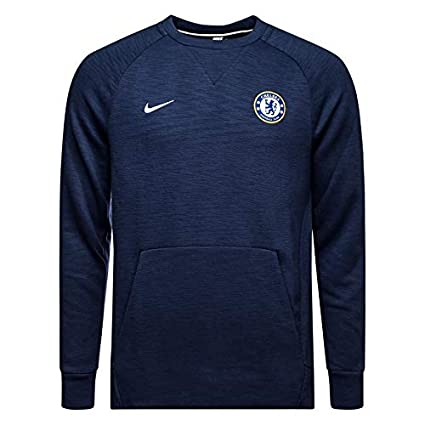 7dfddf886612 Image Unavailable. Image not available for. Color  Nike Men s Chelsea FC  Crew Sweatshirt Navy ...