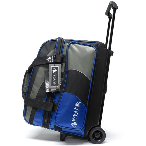 - Pyramid Path Deluxe Double Roller Bowling Bag (Royal Blue/Silver)
