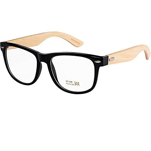 Buauty Unisex Non Prescription Glasses Eyeglasses Clear Lens Wayfarer Sunglasses