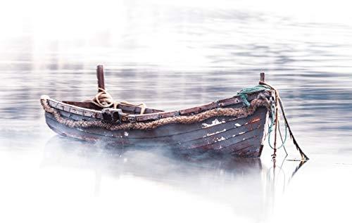 Water Fog Old Boat (Art ()