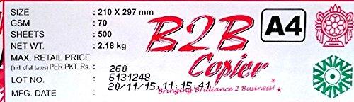 B2B Copier Paper, A4, 70 GSM, 500 Sheet