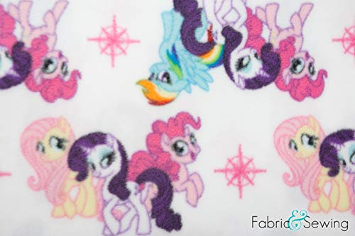 (My Little Pony Anti-Pill Polar Fleece - Plush Fabric Polyester 13 Oz 58-60)