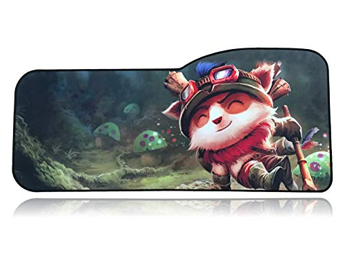 (League of Legends Extended Size Custom Professional Gaming Mouse Pad - Anti Slip Rubber Base - Stitched Edges - Large Desk Mat - 28.5