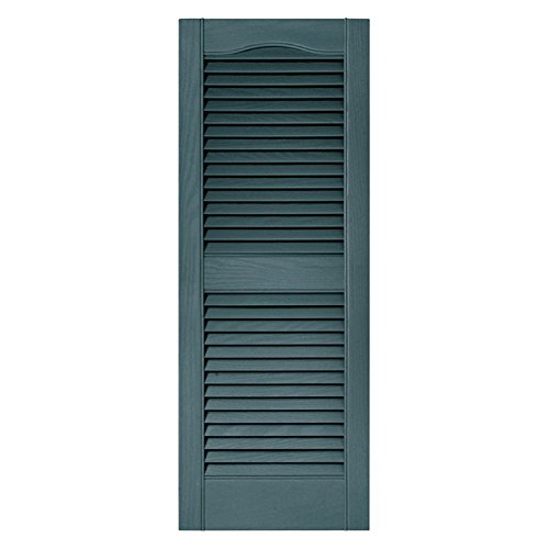 Builders Edge 14 In. x 59 In., Wedgewood Blue, pair of Louvered Shutters ()