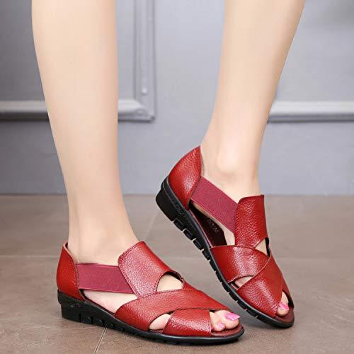 ZHRUI Rouge coloré EU Noir Chaussures 40 Taille rfrwUvqY