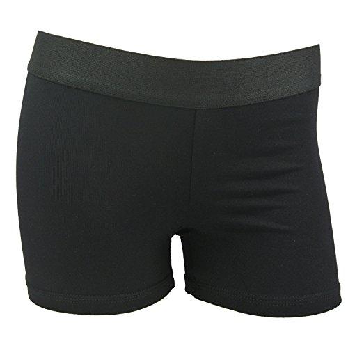 MadSportsStuff Womens 3 Inch Spandex Compression Shorts (Black, Small) ()