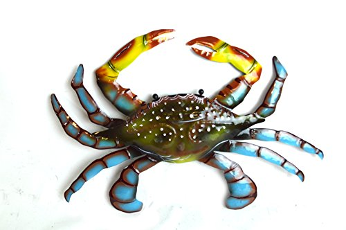 Beautiful Unique SEA Ocean Crab Metal Tropical Island Wall Art (Metal Crab)