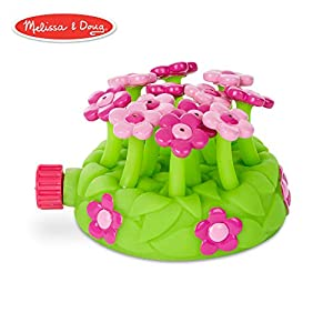 Melissa & Doug Sunny Patch Pretty Petals Flower Sprinkler Toy With Hose Attachment