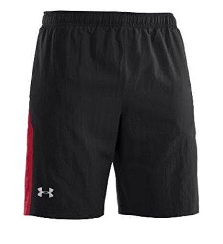Escape 9' Woven Shorts (Mens Under Armour Escape 9'' Woven Short, Black/Charcoal, M)