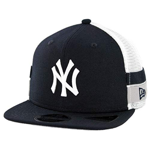 New Era 950 New York Yankees Striped Side Lineup Snapback Hat (DNV) MLB Cap - New Era Striped Hat
